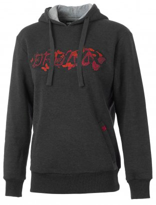 GHOST Damen Hoody Dreamr grau/rot/orange 2017