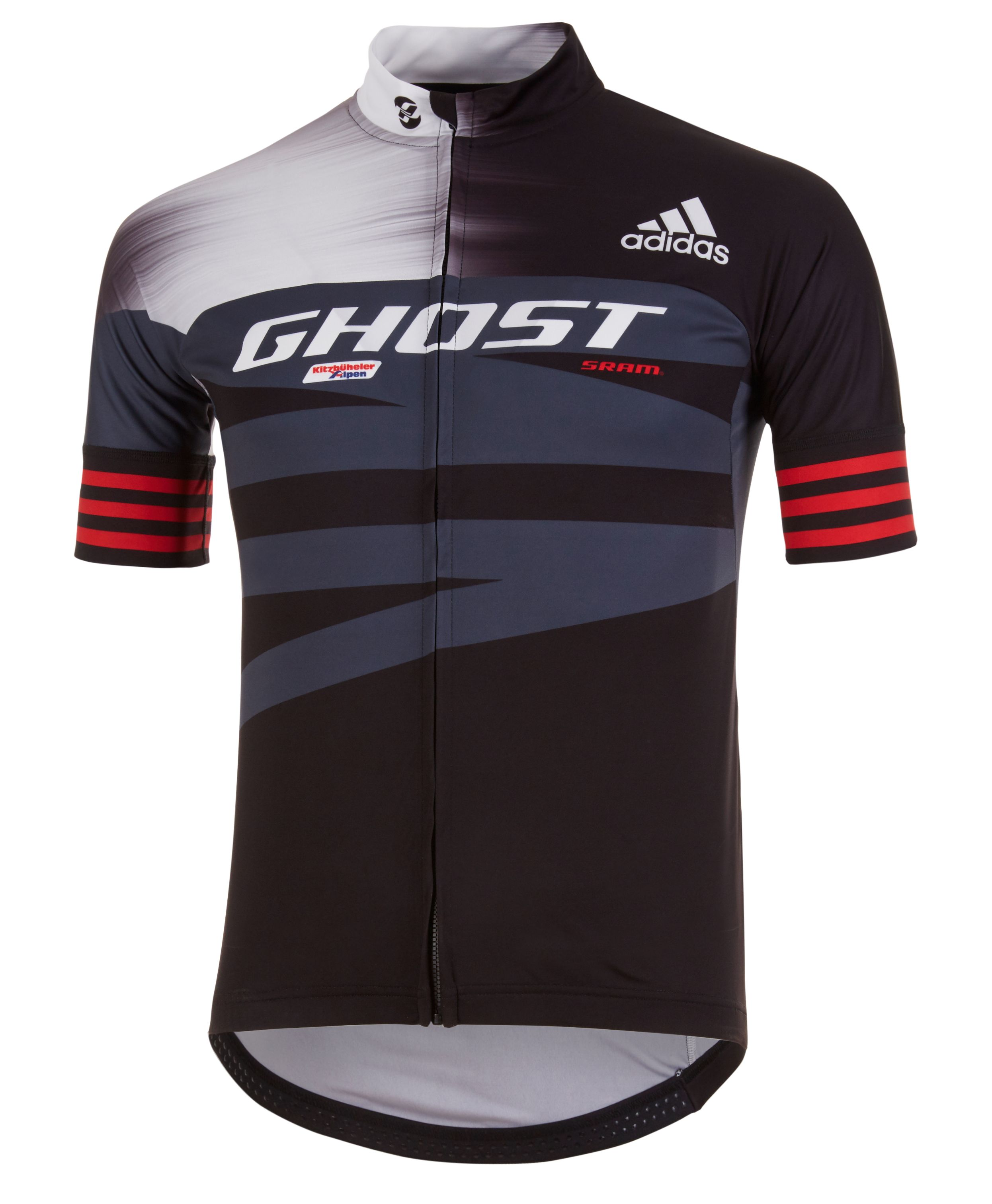 buy online 5f28a 618c7 GHOST Adidas Replica Factory Racing Team Jersey Trikot short black / white  / red