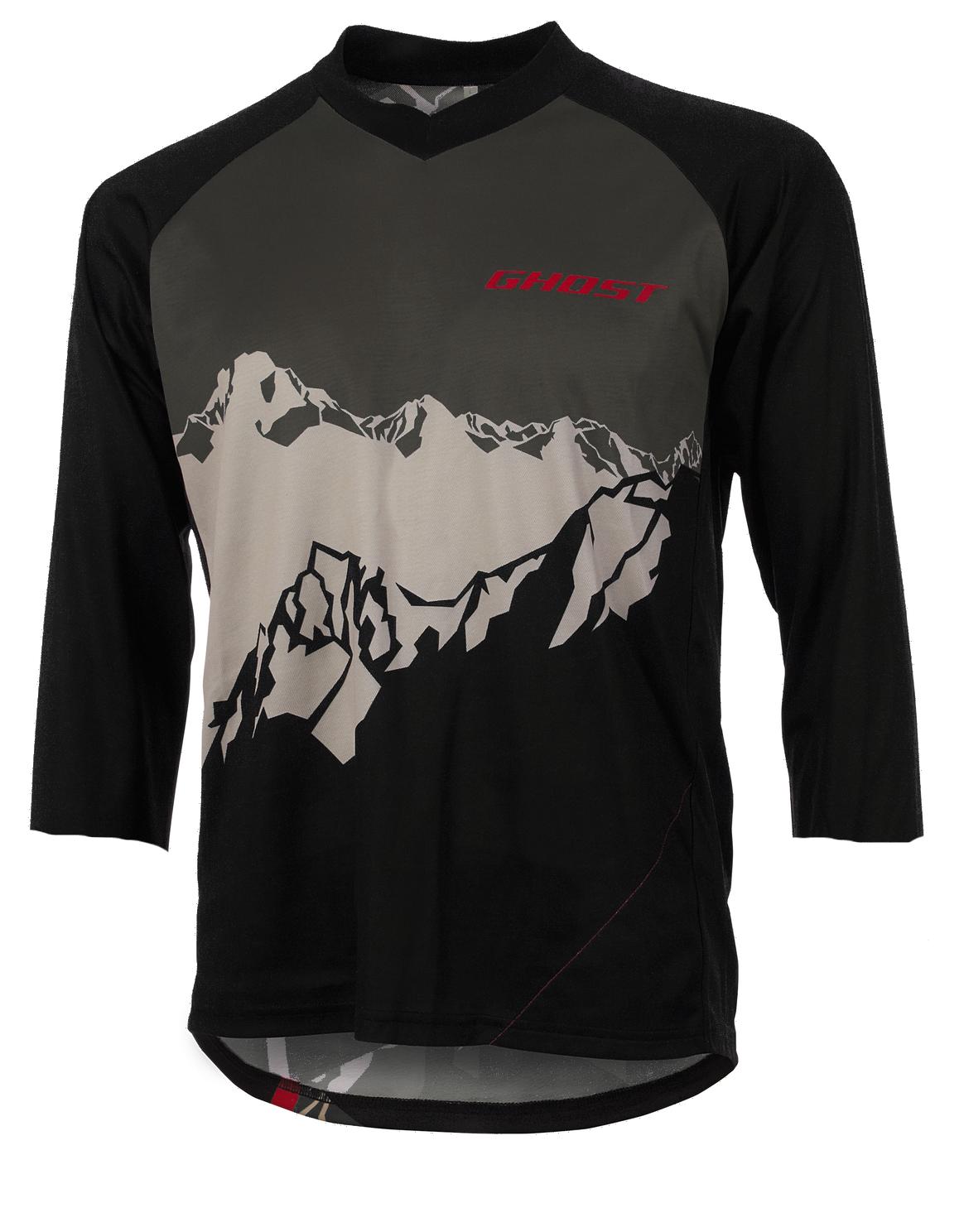 ghost all mountain jersey 3 4 black tan mtb trikot 2017. Black Bedroom Furniture Sets. Home Design Ideas