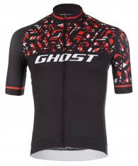 GHOST Factory Racing Jersey Short Night Black / Riot Red / Star White