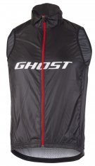GHOST Factory Racing Vest - night black / riot red / star white