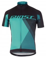 GHOST Performance Evo Jersey Short Night Black / Electric Blue / Reef Blue