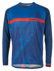GHOST MTN Ride Line Jersey Long - riot blue / night blue / riot red