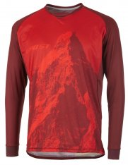 GHOST MTN Ride Line Jersey Long - riot red / dark red