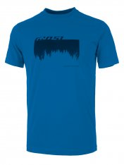 GHOST MTN Casual Line Woods T-Shirt - Vibrant Blue / Night Black