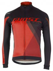 GHOST Performance Evo Jersey Long - night black / riot red