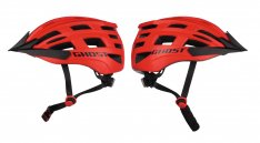 GHOST Jugend Helm neon red / night black 54-58cm