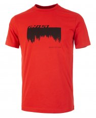GHOST MTN Casual Line Woods T-Shirt - Riot Red / Night Black
