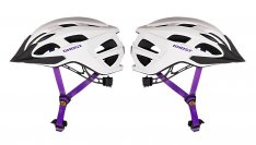 GHOST Helm Classic star white / violet 1