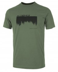 GHOST MTN Casual Line Woods T-Shirt - Army Green / Night Black